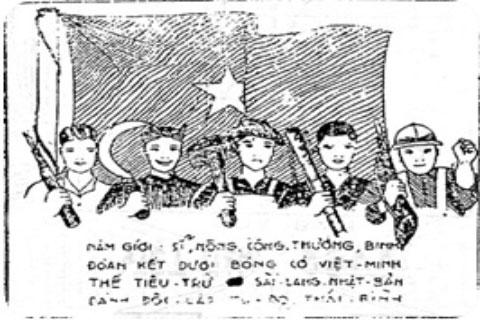 Tranh cổ động trên tờ Việt Nam Độc lập họa bản số 2, ra ngày 25/6/1945