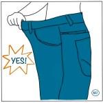 Perte de poids jean trop large