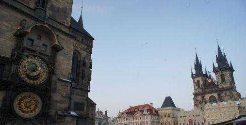 Altstädter Rathaus und Teynkirche am Altstädter Ring