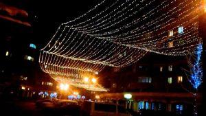 Люкс освещение на улицы в новогоднее время