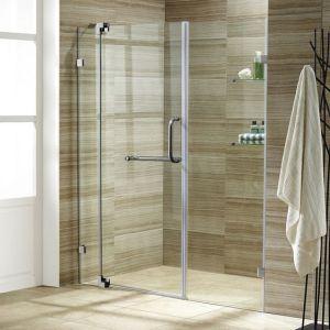 Обустройство ванной комнаты. Стеклянные двери в душ