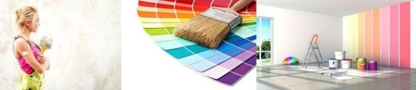 покрасить потолок и стены
