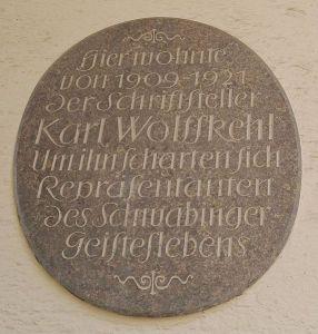 Plaque_Karl Wolfskehl_Munich