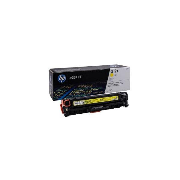 HP 312A Yellow Original LaserJet Toner Cartridge (CF382A),