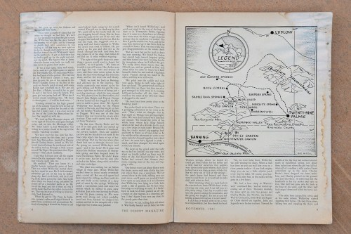 small resolution of  an illustrated map showing willie boy s presumed route in james l carling s november 1941 desert