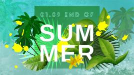 """banner imprezy """"end of summer"""""""