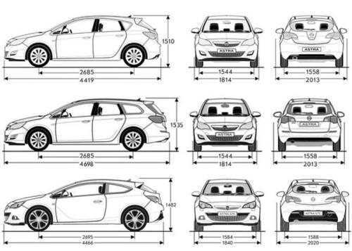 Pokrowce MIAROWE do Opel Astra 4/J Moje Pokrowce