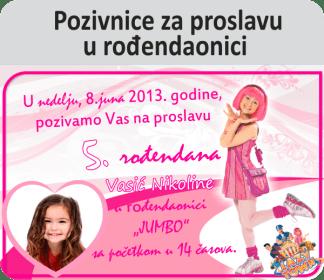 Pozivnice za proslavu u rođendaonici