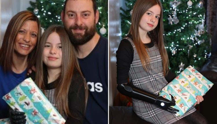 10-Year-Old Girl Born Without Right Hand Gets New Bionic Arm In Time To Open Christmas Presents