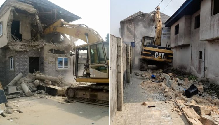Cross River Govt Demolishes Brothel, 4 Houses Owned By Suspected Kidnappers