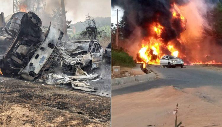 One Feared Dead, Cars Burnt As Tanker Explodes In Ogun
