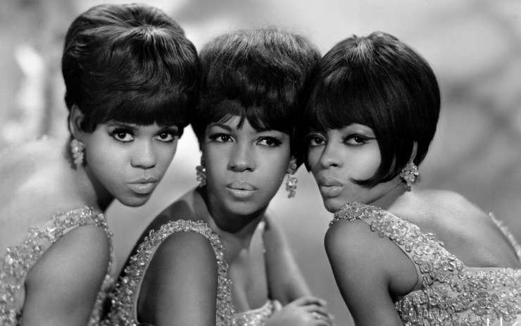 The Supremes: Mary Wilson (centre) with Florence Ballard (left) and Diana Ross (right), circa 1960 CREDIT: MICHAEL OCHS ARCHIVES.