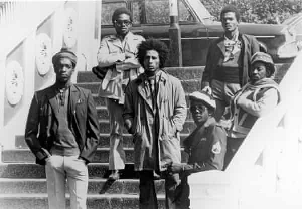 Bunny Wailer, right, with Bob Marley and the Wailers in London, 1973. Photograph: Michael Ochs Archives/Getty Images