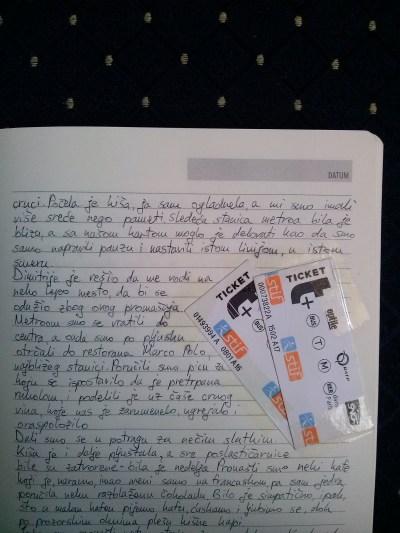 karte iz pariskog metroa (potpisujem i fotografiju)