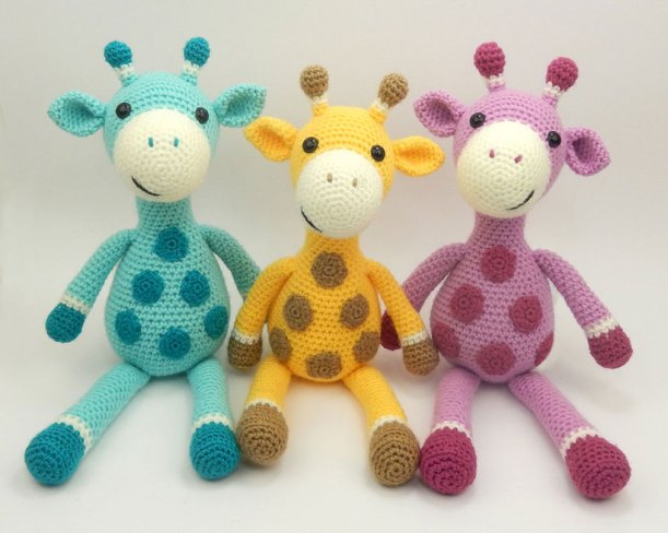 three-giraffes