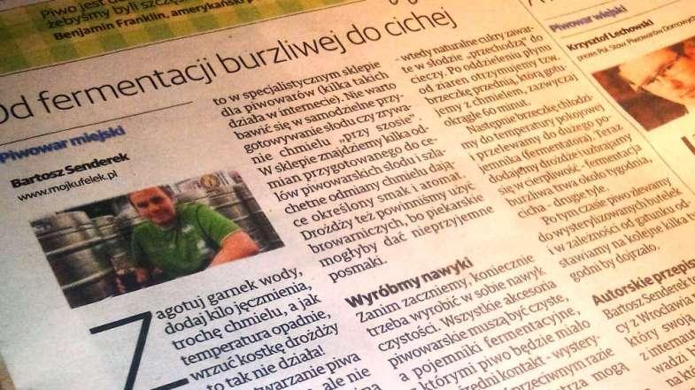 Piwo Domowe - Gazeta Wrocławska