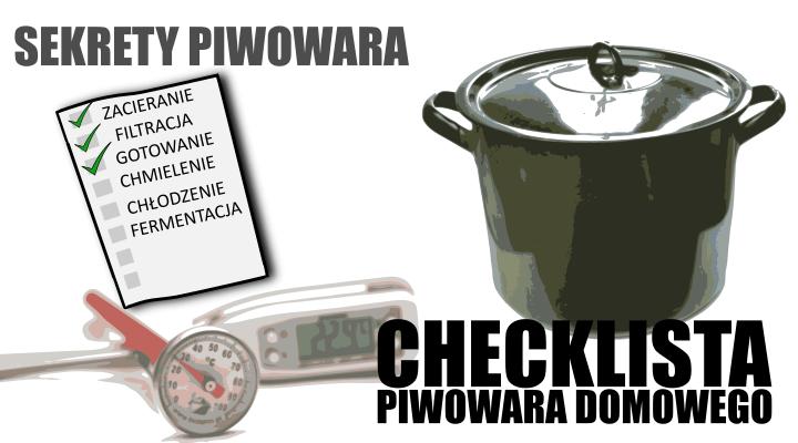 checklista piwowara domowego