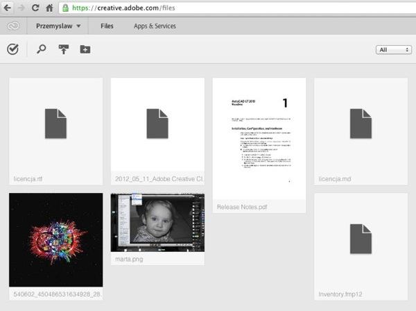 FilesAdobe Creative Cloud