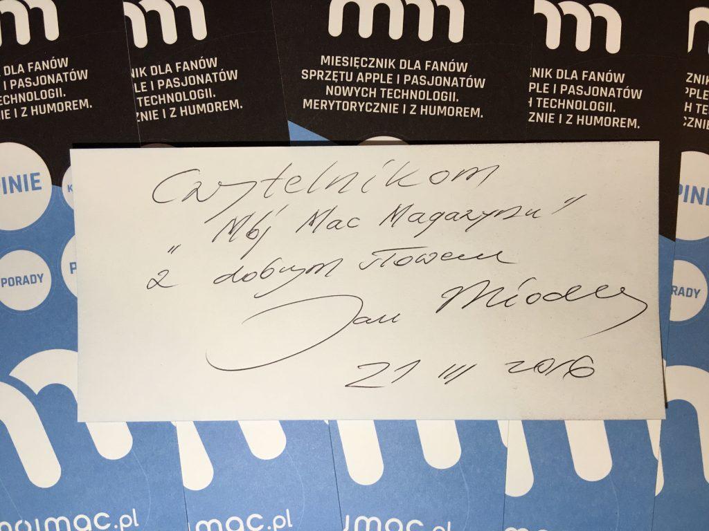 Dedykacja: czytelnim Mój Mac Magazyn z dobrym słowem Jan Miodek :)