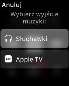 Wybór wyjścia dźwięku z iPhone - Apple TV lub słuchawki