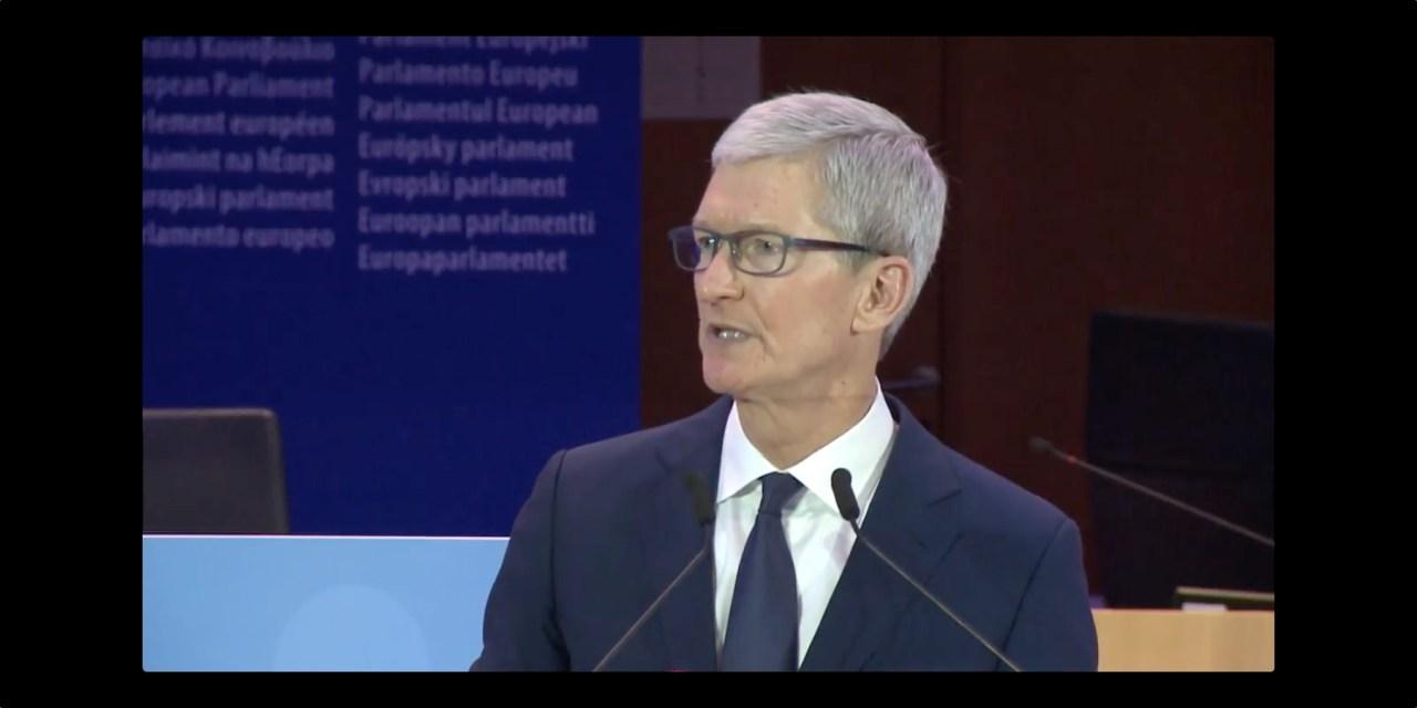 Ważne wystąpienie Tima Cooka na europejskiej konferencji komisarzy ds. prywatności