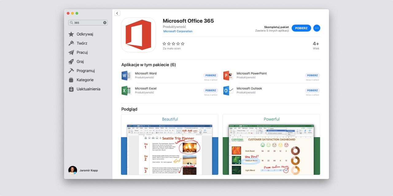 Office 365 w App Store! Microsoft spełnia obietnicę