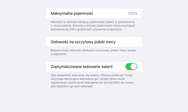 Z iOS 13 bateria posłuży nam dłużej