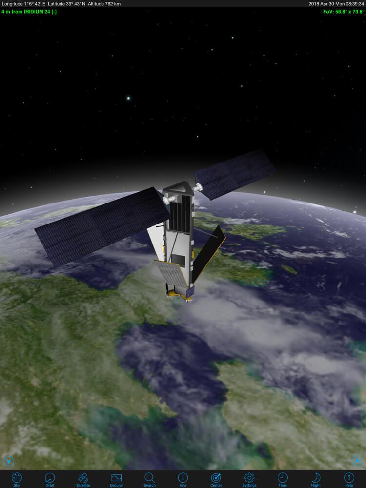 Orbitrack widok satelity 3D