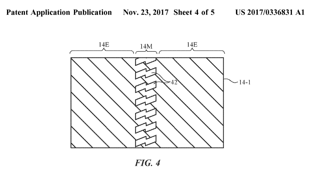 Foldable display patent Apple