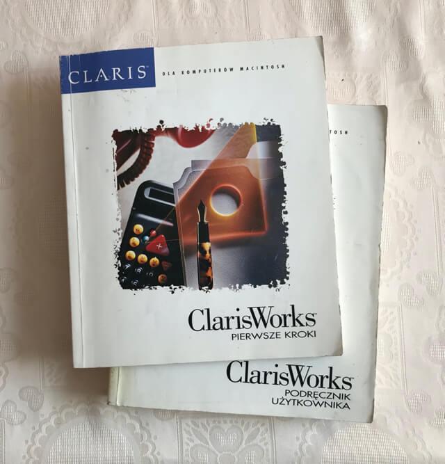 ClarisWorks pierwsze kroki okładka podręcznika