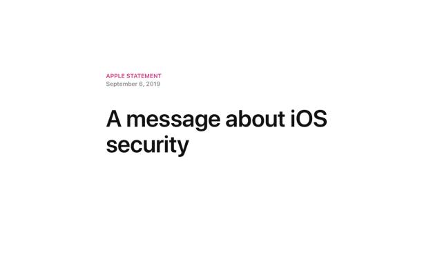 Komunikat Apple o bezpieczeństwie iOS