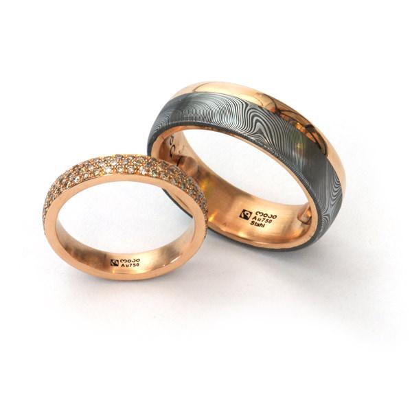 Eheringe gold mit diamanten  Modeschmuck