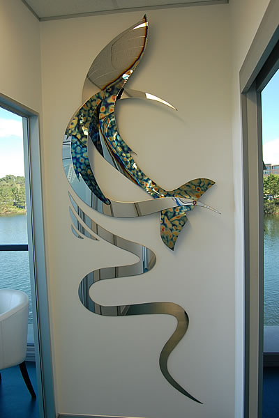 MojoCreations  Jo Wooler  Stainless Steel Art  Australian Marine Life  Commissioned Artwork