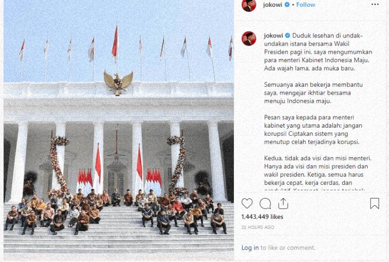 pak prabowo Menteri Kabinet Indonesia Maju
