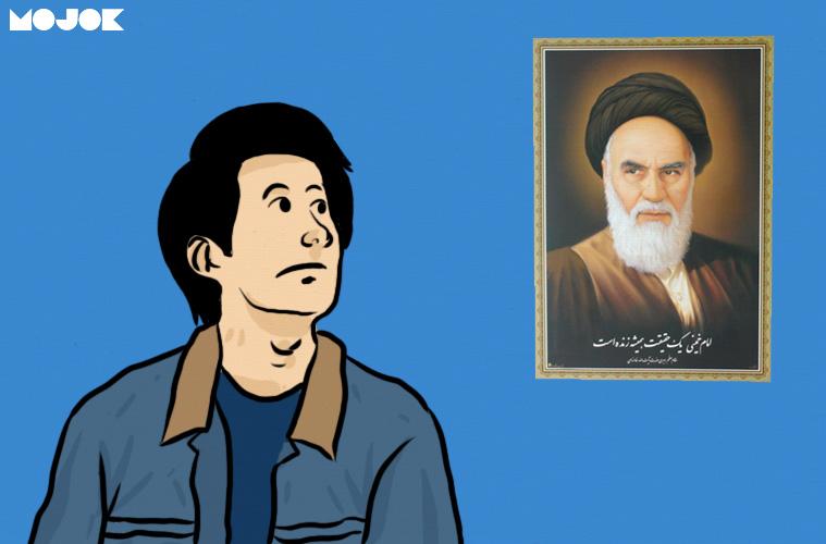 Poster Khomeini Di Kamar Dilan 1990 Kerikil Dalam Sepatu Pembaca