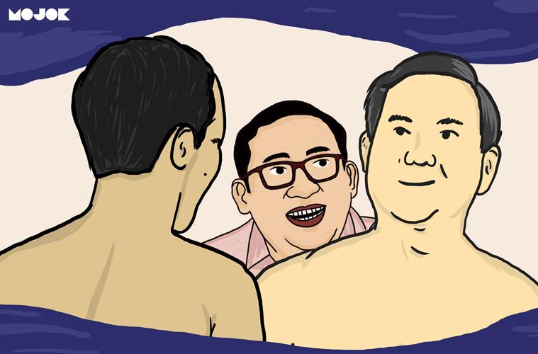prabowo telanjang dada