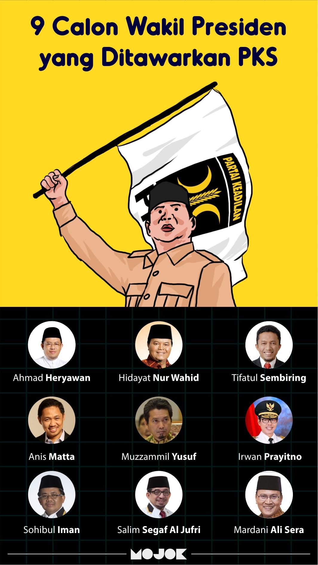 9 wakil presiden pks