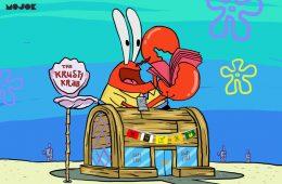 nafkah tuan krabs mr krabs spongebob bos jahat majikan atasan kantor mojok.co