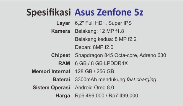 Spesifikasi Asus Zenfone 5z