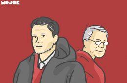 Ole Gunnar Solskjaer dan Sir Alex Ferguson MOJOK.CO