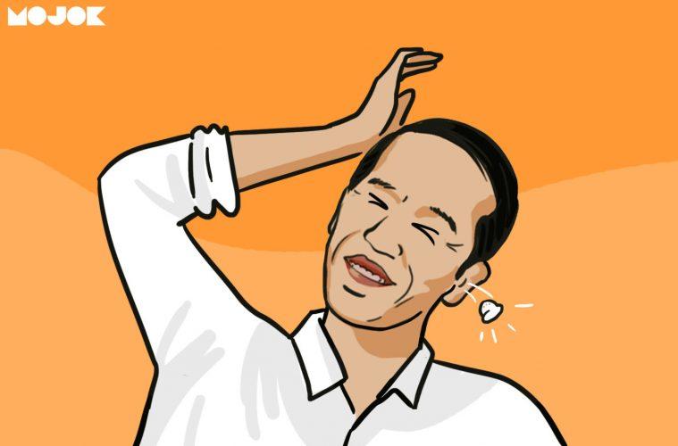 Jokowi vs Prabowo ada earpiece