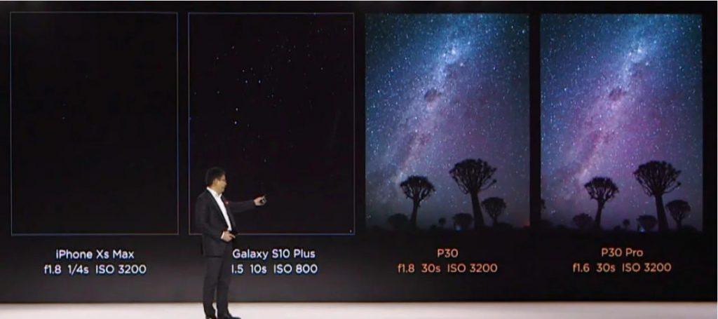 Perbandingan hasil kamera mode gelap Huawei P30 Pro dibandingkan smartphone lain (1)