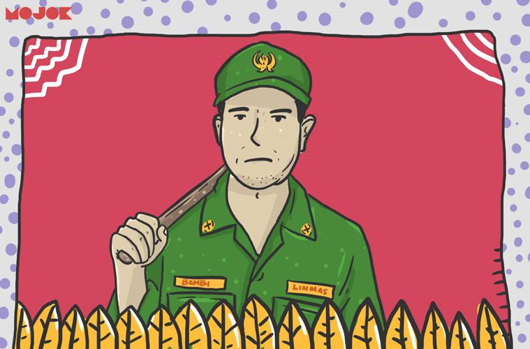 Hansip lebih sip ketimbang polisi dan tentara MOJOK.CO