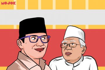 Sandiaga Uno dan Kiai Ma'ruf Amin MOJOK.CO