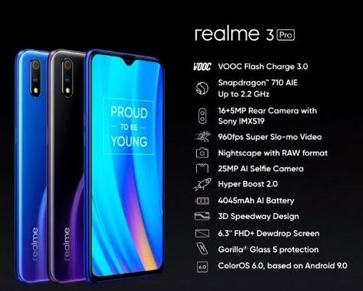 Realme C2 Realme 3 Pro Dua Ponsel Anyar Realme Yang Siap