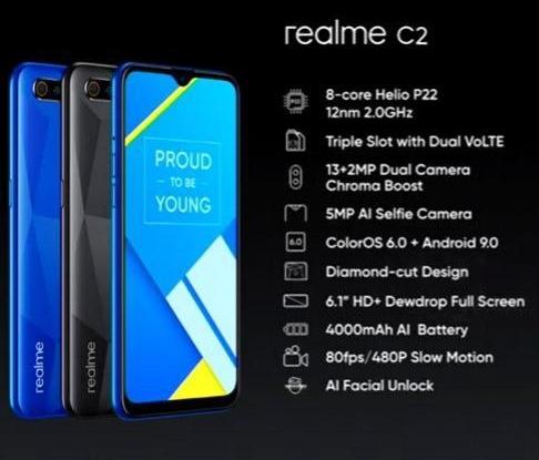 Spesifikasi Realme C2 - MOJOK.CO