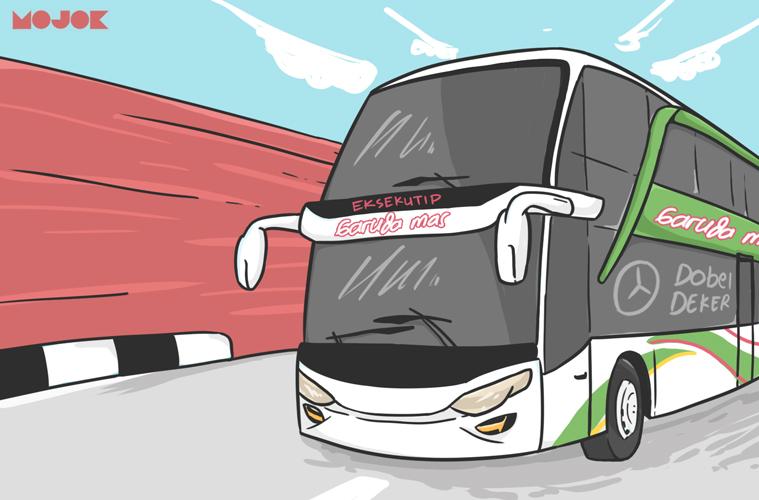 Bus Garuda Mas Double Decker MOJOK.CO