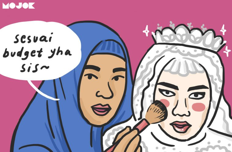 make-up nikahan kelihatan pangling MOJOK.CO