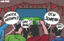 Terima Kasih DPR: The Jak, Bobotoh, dan Suporter Indonesia (Mungkin) Bisa Rukun MOJOK.CO