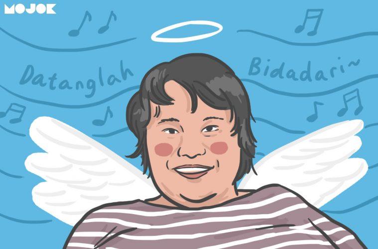 cecep reza bombom bidadari meninggal dunia profil biodata obituari penyakit jantung joshua oh joshua nostalgia 90an mojok.co